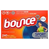 Product Image of the Bounce Plus Febreze Sport Odor Defense Fabric Softener Dryer Sheets, 240 Count