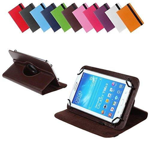 BRALEXX Universal 360° Tablet Tasche passend für Hisense Sero 7 Pro, 7 Zoll, Braun