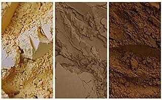 The EARTH TONE Collection - عبوة من 3 صبغات معدنية طبيعية (150 مل|5 أوقية): لون أصفر فاتح | لون بني فاتح | بني طبيعي | بني...