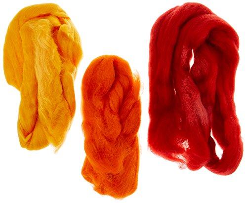 EFCO - Lana merino per infeltrimento, 19.5 mic 50 g, colore: Rosso e vari colori