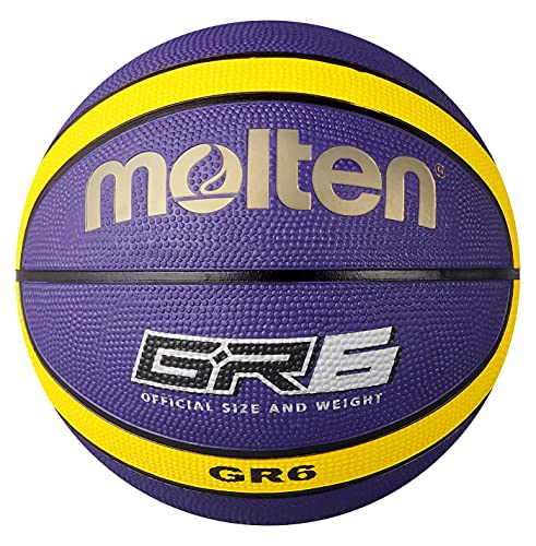 Molten Gr6 Basketball, Purple/yellow- Size 6