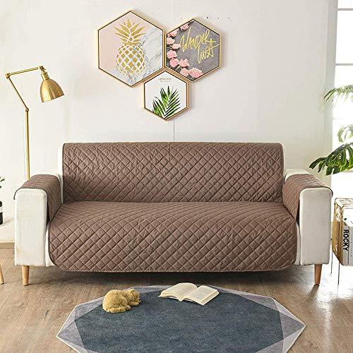 XHNXHN Funda para sofá Funda Reversible para sofá, Protector de Muebles, Funda para sofá, Correas elásticas, Mascotas, niños, Perros, Gatos (2 plazas/sofá de Dos plazas, marrón)