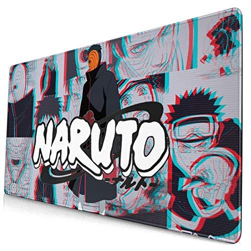 Large Gaming Mouse Pad Japanese Anime Hot Comic Cartoon Naruto Cool Anti Slip Mouse Mat Anti Slide Bottom Desk Mat Bedroom Desk Pad(29.5'X15.8'X0.12')