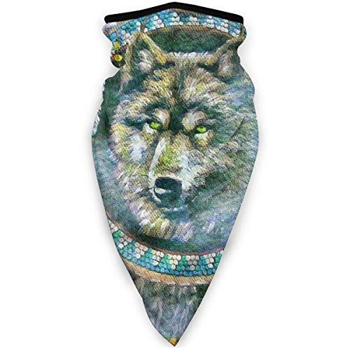 BJAMAJ inheemse Amerikaanse indianen wolf outdoor gezicht mond masker winddicht sport masker ski masker schild sjaal Bandana mannen vrouw