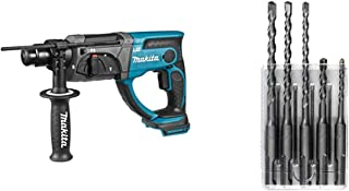 Makita DHR202Z 18V Li-Ion LXT 20mm SDS-Plus Rotary Hammer - Batteries and Charger Not Included & D-03888 5 Piece Standard ...