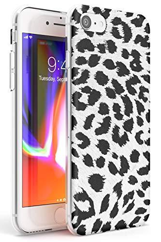 Rar Leopard Print Bianco Slim Cover per iPhone 6 TPU Protettivo Phone Leggero con Modo...
