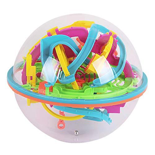 Creativo 3d Laberinto De Bolas Juguetes De Los Niños Rompecabezas De La Bola Hecha a Mano Enigmas Juguete De La Inteligencia Juegos 3d Asamblea Rompecabezas Esfera Bloque Laberinto Apoyos Para Adultos