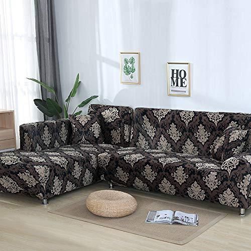 Funda de sofá con patrón geométrico para sofá seccional en Forma de L Funda de sofá Toalla de sofá Fundas de sofá para Sala de Estar A14 4 plazas