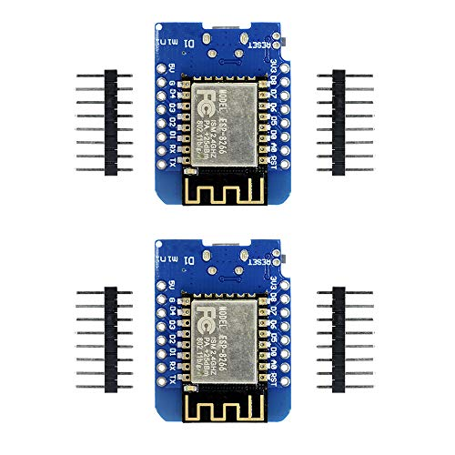 Aideepen 2個セット ESP8266 ESP-12F CH340G CH340 V2 3.3V USB WeMos D1 Mini WIFI開発ボードD1 Mini NodeMCU IOTボード