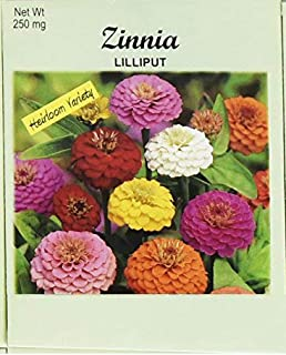 Set of 50 Flower Seed Packets! Flower Seeds in Bulk (50, Zinnia Lilliput)