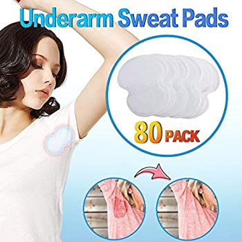 Underarm Sweat Pads - Joseche PREMIUM QUALITY Fight Hyperhidrosis [80 Pack] for Men and Women Comfortable Non Visible Extra Adhesive Disposable Dress Guards/Shields Sweat Free Armpit Protection