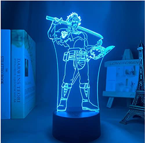 Anime Led Luz Negro Trébol Yami Sukehiro Luz de noche para Dormitorio Decoración Nightlight Manga Regalo de Cumpleaños Sala Led Noche Lámpara 3D