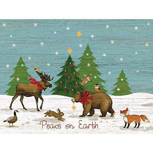 Lang Peace On Earth Classic Christmas Card by Suzanne Nicoll, 12 Cards & 13 Envelopes (2004034)