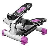 Huiiv Mini Stepper, Cardio Stepper de Fitness à Domicile avec Corde d'entraînement, Jambe, Bras Taille et Hanches, modèles Unisexes