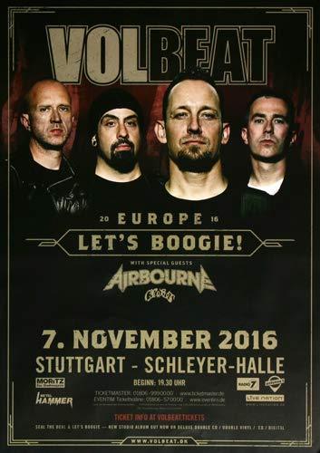 Volbeat - Let`s Boogie, Stuttgart 2016 » Konzertplakat/Premium Poster | Live Konzert Veranstaltung | DIN A1 «