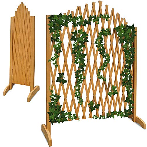 Deuba Gartenzaun Rankhilfe Rankgitter Holzzaun Pflanzengitter 200 cm zusammenfaltbar variabel verstellbar