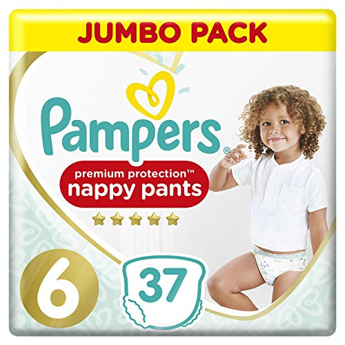 Pampers Premium Protection Pants Größe 6, 2 x 37 Windeln