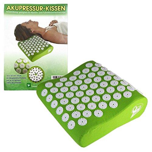 Akupressurkissen Nackenkissen Nagelkissen Iplikator 32x32x10 cm grün Shanti Entspannungskissen
