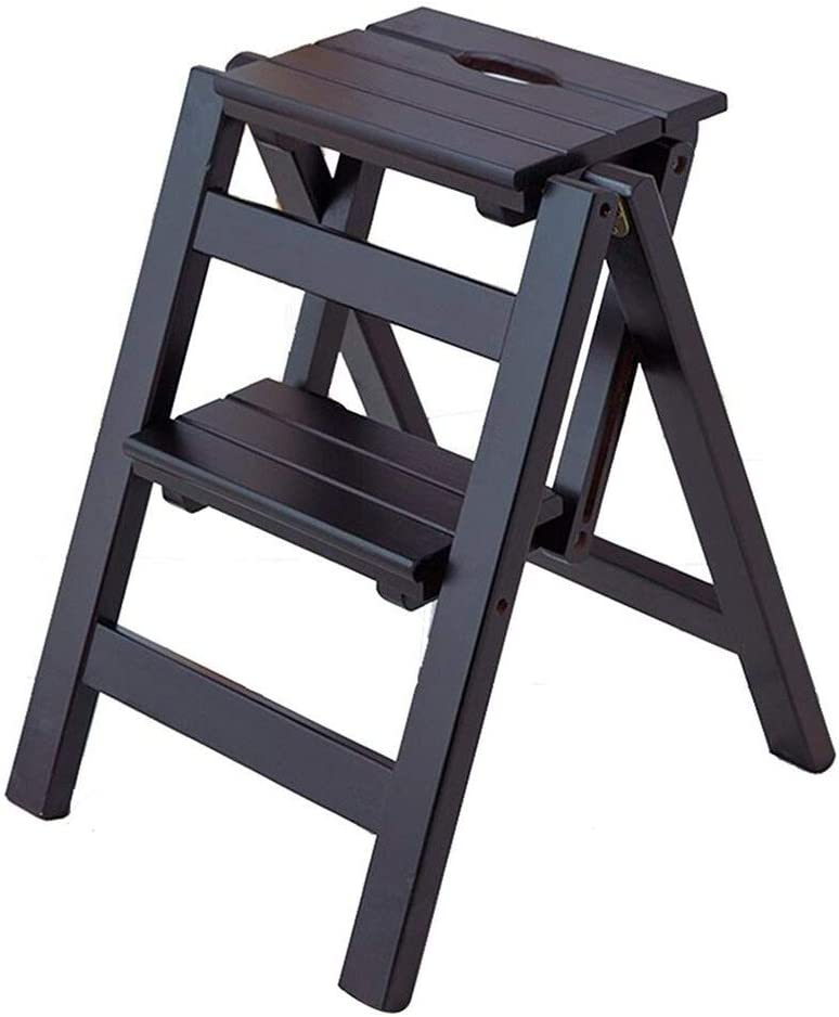 DNSJB Ladder Stool Solid Wood 2 Household Ranking TOP11 Multifun Steps Folding Limited Special Price