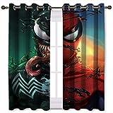 Rideaux occultants pour chambre à coucher Motif Spider Man Venom Art 140 x 160 cm