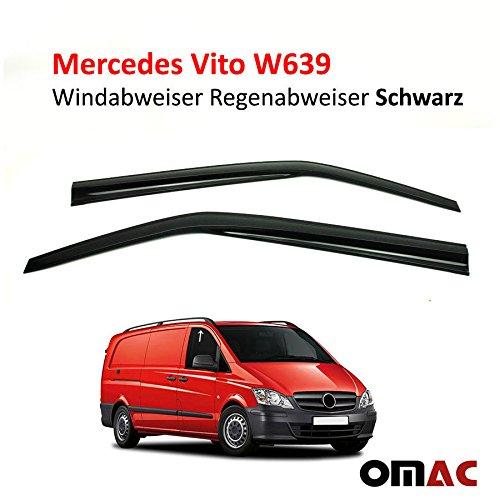 OMAC Windabweiser Regenabweiser 2 TLG Schwarz für Vito Viano W639 2003-2014