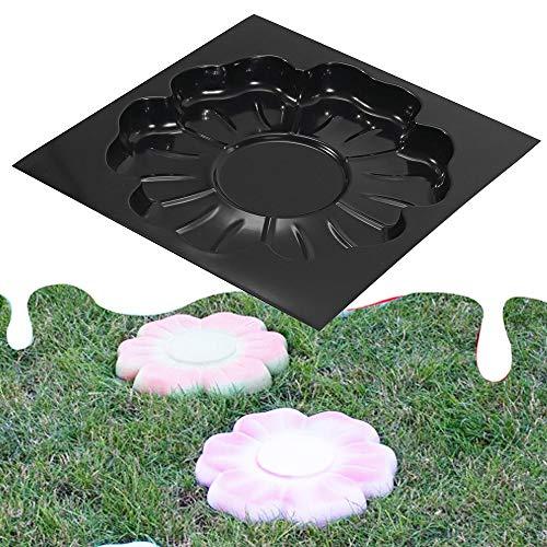 Tollmllom Betonform Pflasterform DIY Multifunktionsplastikpflaster Mold Cement Brick Form kann Wieder verwendet Werden DIY Gartenweg (Farbe : Black, Size : One Size)