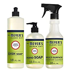 Kitchen basics set includes our favorite lemon fresh scents and plant-derived cleaning products Liquid hand soap: Hard-working, non-drying formula for busy hands Dish soap: Cuts through grease while keeping dishes clean and bright Multi purpose clean...