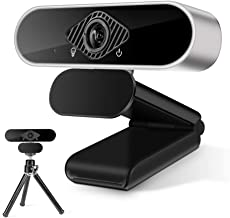 Full HD1080P Webcam with Built in Stereo Microphone, Desktop Laptop Computer Web Camera with Auto Light Correction, Plug a...