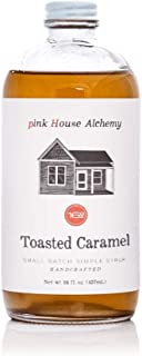 Pink House Alchemy Toasted Caramel - Simple Syrup 16 oz Cocktail Drink Mix - Use to Flavor Coffee - Shaved Ice - Dessert Topping - Fresh Ingredients Used (TC12)