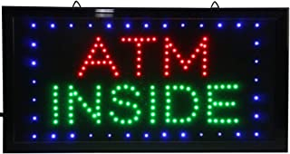 CHENXI Animated LED Business ATM Sign +On Off Switch Bright Light 48 X 25 cm (48 X 25 cm, I)