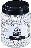 ARSUK Balines de Airsoft, Munición Bolas de Paintball 6mm, 0.20g de Alto Grado Precision de plástico Cantidades; 2000, 4000, 5000, 10,000 Balines(0.20g 5000-Pellets-Blanco)