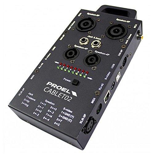 Proel CABLET02 kabeltester voor audio en videokabel en stekker