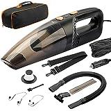 SAMENGD Car Vacuum Cleaner-Portable Car Vacuum-Car Vacuum Cleaner High Power/3 Attachments/Car Seat Headrest Hook 2 Pcs,16 Ft Cord & Bag-12v, Auto Accessories Kit for Interior Detailing