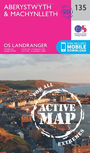 Aberystwyth & Machynlleth: 135 (OS Landranger Active Map)