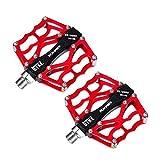 Forfar Pédales de vélo rouge VTT BMX DH Pédale de descente s pédales de...