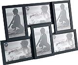 Balvi Marco Isernia Color Negro Capacidad: 6 Fotos Tamaño de Fotos: 10x15cm para sobremesa o para Colgar Plástico 28,5x44,5 cm