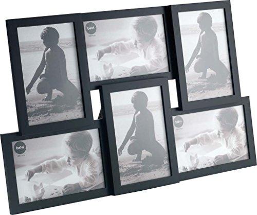 Balvi P/Foto Isernia Colore Nero capacità: 6 Foto Formato della Foto: 10x15cm da appoggio o da Appendere Plastica 28,5x44,5 cm