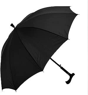 LKLXZD Umbrella 2-in-1 Climbing Hiking Walking Stick Crutch Windproof Anti-UV Rain Sun Umbrella Windproof, Rainproof and UV Resistant (Color : Black)