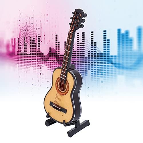 Wosune Mini Regalo de Instrumento Musical, Adorno de Instrumento Musical, decoración de Guitarra de Escritorio para decoración de Dormitorio para Regalos