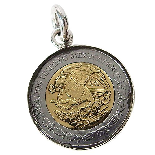 本物のメキシコのコインペンダント(1) コイン 硬貨 アクセサリー メンズ レディース 海外