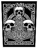 Amon amarth Skulls espalda parche