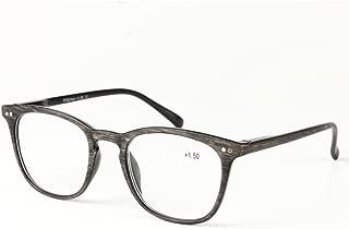 Qi Song Woodgrain Print Quality Spring Hinge Reading Glasses Men Women Readers+1.0+1.5+2.0+2.5+3.0+3.5+4.0