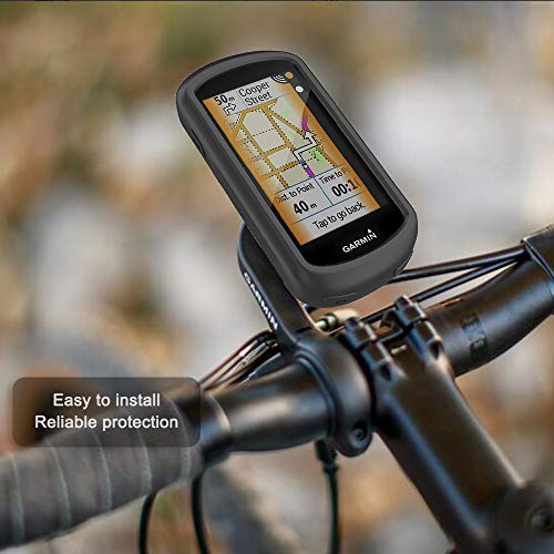 TUSITA Case for Garmin Edge Explore GPS - Silicone Protective Cover - Touchscreen Touring Bike Computer Accessories (Black)