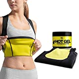 HOT SHAPERS Cami Hot Waist Trimmer with Slimming Sweat Gel (Black, L)