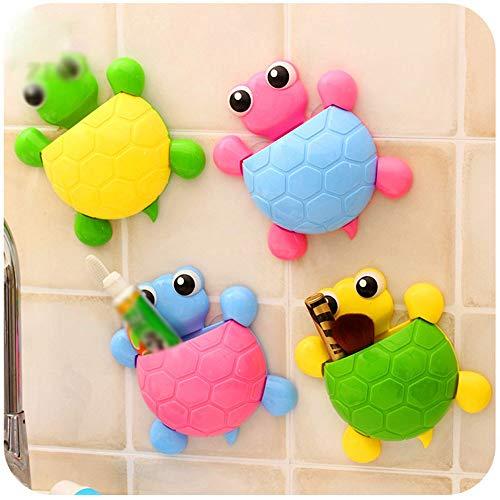 Soporte Para Cepillo De Dientes Autoadhesivo 4 piezas de tortuga de plástico multicolor Tortero de...
