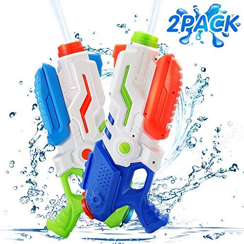 Ucradle Wasserpistole, 2er Set Water Gun Spielzeug für Kinder, 700ML Wasserpistolen mit 8-10 Meter Reichweite, Party Water Blaster Strand Sommer Pool Badespielzeug ab 6 Jahr