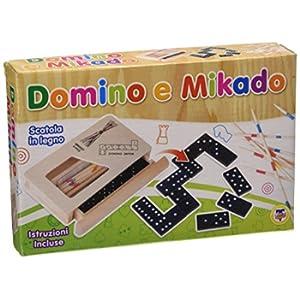 Teorema- Domino e Mikado Gioco da Tavolo, Multicolore, VD40119