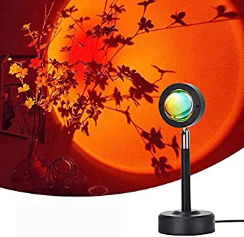 Ms.Goodbuy 180 Degree Rotation LED Sunset Projection Lamp