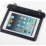 Bravebird タブレット 防水ケース iPad mini 7インチ 水深10M 防水保護等級 IPx8 スタイリッシュ 防水 iPad mini PC ポータブルゲーム (ブラック 横型)bb908a