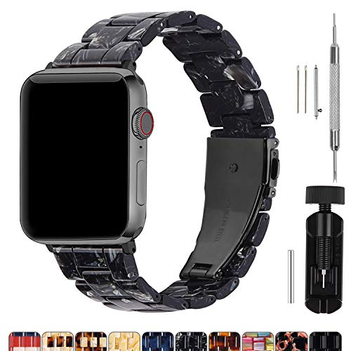 Fullmosa Harshoudende horlogeband compatibel voor Apple Watch 38mm/40mm/42mm/44mm, iWatch Serie 4/3/2/1, Hermes, Nike +, Edition, Sport